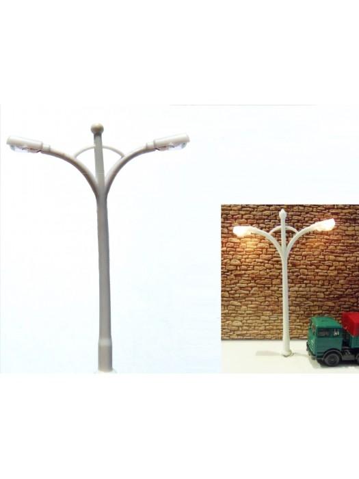 Dubbele straatlantaarn (gloei)